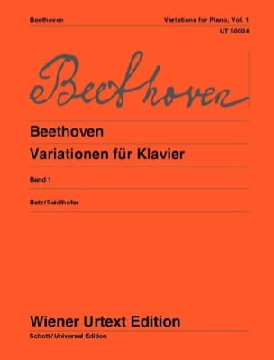 Variations pour Piano Volume 1 - BEETHOVEN - laflutedepan.com