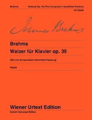 16 Valses Opus 39 - Version simplifiée - BRAHMS - laflutedepan.com