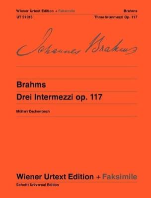 3 Intermezzi Opus 117 + fac-similé BRAHMS Partition laflutedepan
