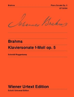 Sonate pour Piano n° 3 Opus 5 BRAHMS Partition Piano - laflutedepan