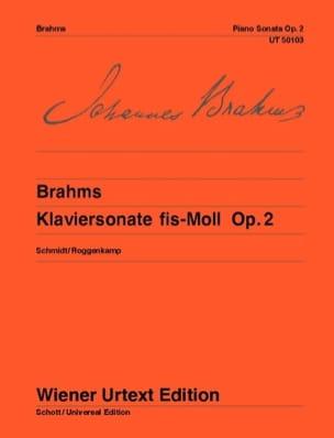 Sonate pour Piano n° 2 Opus 2 - BRAHMS - Partition - laflutedepan.com