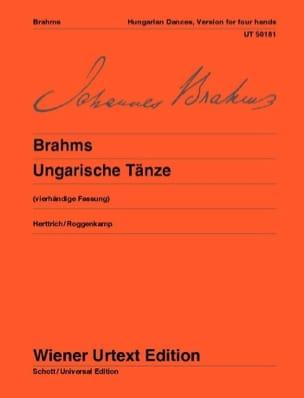 Ungarische Tänze. 4 Mains - Johannes Brahms - laflutedepan.com