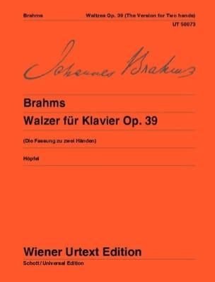 Valses Opus 39. - BRAHMS - Partition - Piano - laflutedepan.com
