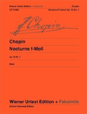 CHOPIN - Nocturne Fa Minor Opus 55-1 facsimile - Sheet Music - di-arezzo.co.uk
