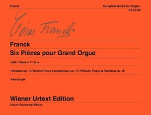 César Franck - 6 Pieces For Great Organ. Volume 1 - Partition - di-arezzo.co.uk