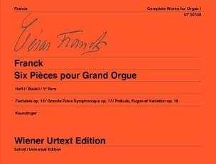 6 Pièces Pour Grand Orgue. Volume 1 - César Franck - laflutedepan.com