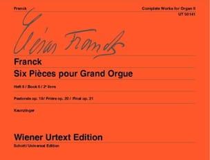 6 Pièces Pour Grand Orgue. Volume 2 - FRANCK - laflutedepan.com