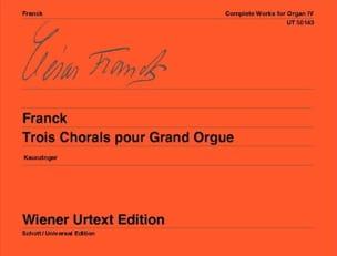 César Franck - 3 Chorales For Grand Orgue - Partition - di-arezzo.co.uk