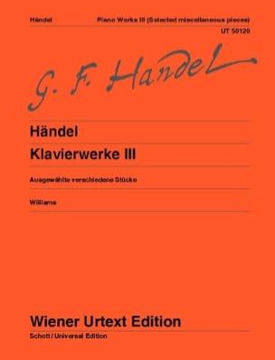 Oeuvre Complète Pour Piano Volume 3 HAENDEL Partition laflutedepan
