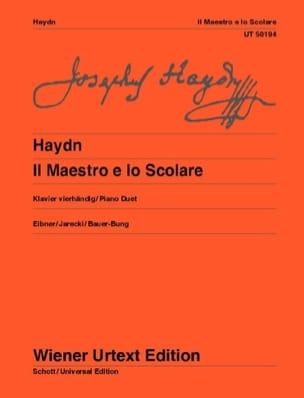 HAYDN - Il Maestro E Lo Scolare hob 17a-1. 4 Mains - Partition - di-arezzo.fr
