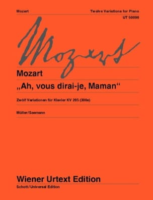12 variations sur Ah, vous Dirai-Je, Maman K 265 (300e) - laflutedepan.com