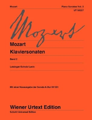 MOZART - Sonatas Volume 2 - New Edition - Sheet Music - di-arezzo.co.uk