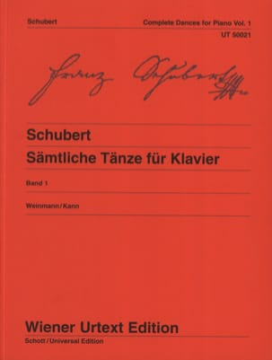 Danses pour piano. Volume 1 - SCHUBERT - Partition - laflutedepan.com