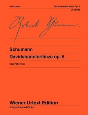 Davidsbündlertänze, Opus 6 SCHUMANN Partition Piano - laflutedepan