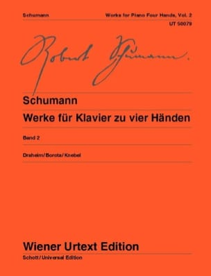 SCHUMANN - Klavierwerke Bd 2 - 4 hands - Sheet Music - di-arezzo.co.uk