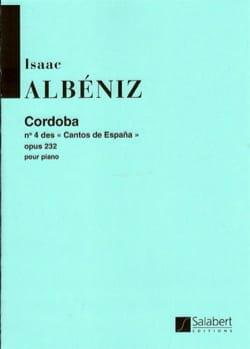 Isaac Albeniz - Cordoba Opus 232-4 - Sheet Music - di-arezzo.co.uk