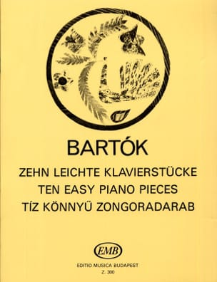 10 Leichte Klavierstücke BARTOK Partition Piano - laflutedepan