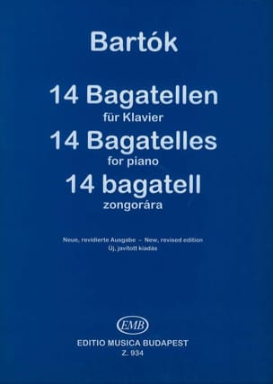 BARTOK - 14 Bagatelles Opus 6 - Sheet Music - di-arezzo.co.uk