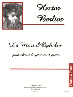 BERLIOZ - The Death of Ophelia Opus 18-2 - Sheet Music - di-arezzo.com