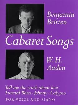 4 Cabaret Songs BRITTEN Partition Mélodies - laflutedepan
