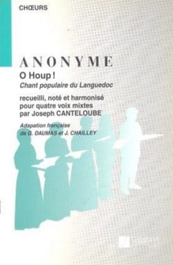 O Houp ! - Joseph Marie Canteloube - Partition - laflutedepan.com