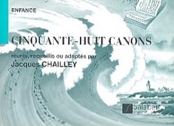 Jacques Chailley - 58 Cannons 2 Voice. - Sheet Music - di-arezzo.co.uk