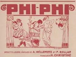 Phi-Phi - Henri Christiné - Partition - Opéras - laflutedepan.com