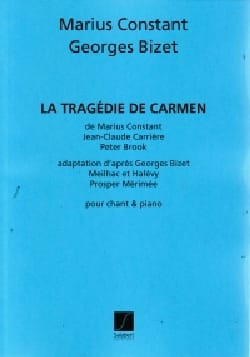 La Tragédie de Carmen Marius Constant Partition Opéras - laflutedepan
