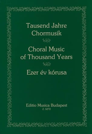 1000 Years of Choral Music - Sheet Music - di-arezzo.co.uk