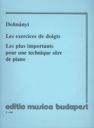 DOHNÁNYI - Finger exercises. Exhausted - Sheet Music - di-arezzo.com