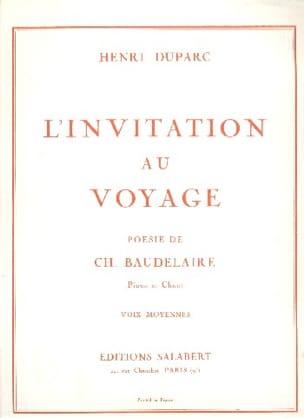Henri Duparc - Invitation Au Voyage. Voix Moyenne - Partition - di-arezzo.fr
