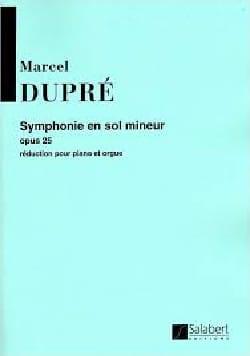 Marcel Dupré - Symphonie en sol mineur Opus 25 - Partition - di-arezzo.fr