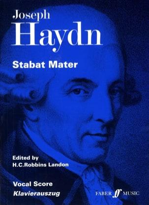 Joseph Haydn - Stabat Mater - Partition - di-arezzo.fr