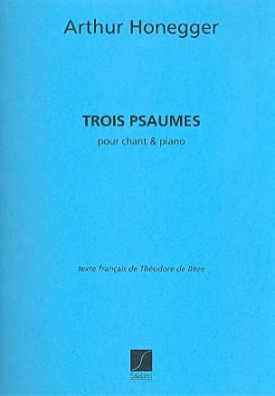 Arthur Honegger - 3 Psaumes. - Partition - di-arezzo.fr