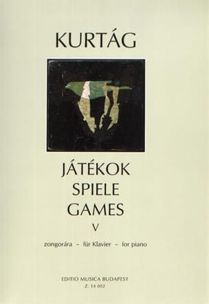 Jatekok Volume 5 KURTAG Partition Piano - laflutedepan