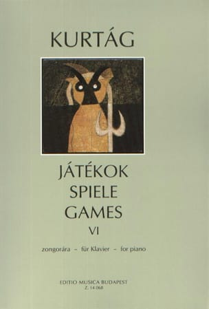 Jatekok Volume 6 KURTAG Partition Piano - laflutedepan
