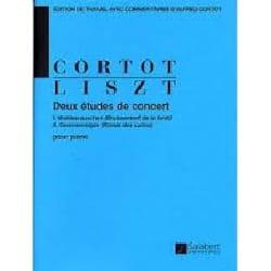 Franz Liszt - 2 Etudes de concert - Partition - di-arezzo.fr