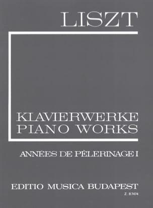 Franz Liszt - Années de pélerinage. Volume 1 (Série 1, Volume 6) - Partition - di-arezzo.fr