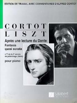 Après une lecture de Dante Franz Liszt Partition Piano - laflutedepan