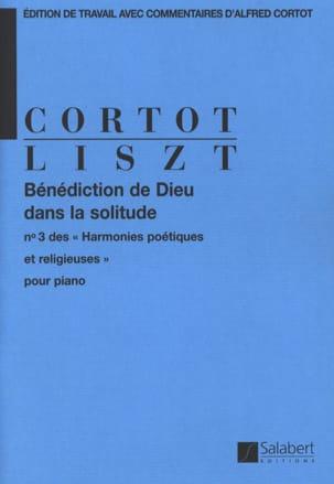Franz Liszt - Bénédiction de Dieu dans la solitude - Partition - di-arezzo.fr