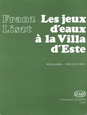Franz Liszt - Jeux d'eau à la villa d'Este - Partition - di-arezzo.fr