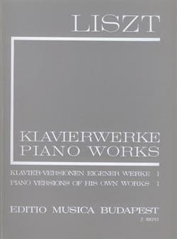Franz Liszt - Transcriptions de ses œuvres, Volume 1 (Série 1, Volume 15) - Partition - di-arezzo.fr
