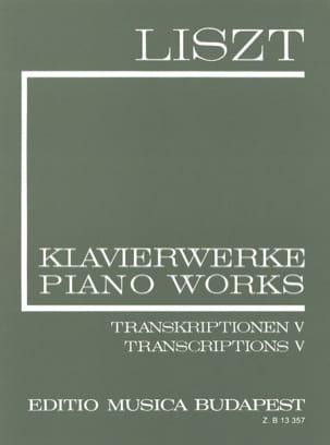 Franz Liszt - Transcriptions Diverses (Série 2, Volume 20) - Partition - di-arezzo.fr