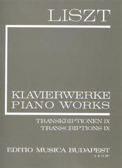 Franz Liszt - Transcriptions Diverses Volume 9 (Série 2, Volume 24) - Partition - di-arezzo.fr