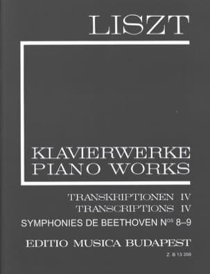 Liszt Franz / Beethoven Ludwig van - Symphonies N° 8 et N° 9 (Série 2, Volume 19) - Partition - di-arezzo.fr