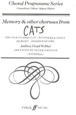Webber Lloyd - Memory et Autres Choeurs Extraits de Cats - Partition - di-arezzo.fr