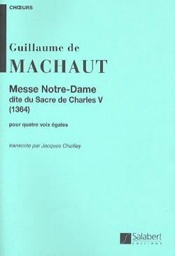 Guillaume de Machaut - Messe Notre Dame - Partition - di-arezzo.fr