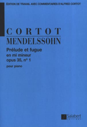 MENDELSSOHN - Prélude et Fugue Opus 35-1. - Partition - di-arezzo.fr