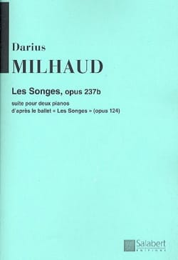Les Songes Opus 237b. 2 Pianos MILHAUD Partition Piano - laflutedepan
