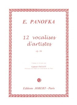 Heinrich Panofka - 12 Artist Vocalises N ° 4 Opus 86 - Sheet Music - di-arezzo.co.uk